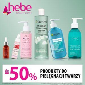 Wszystkie produkty do pielęgnacji twarzy do -50%!