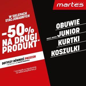 Kupuj parami i korzystaj z promocji -50% na drugi produkt Martes Sport!