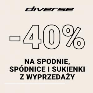 -40% na spodnie, spódnice i sukienki z wyprzedaży