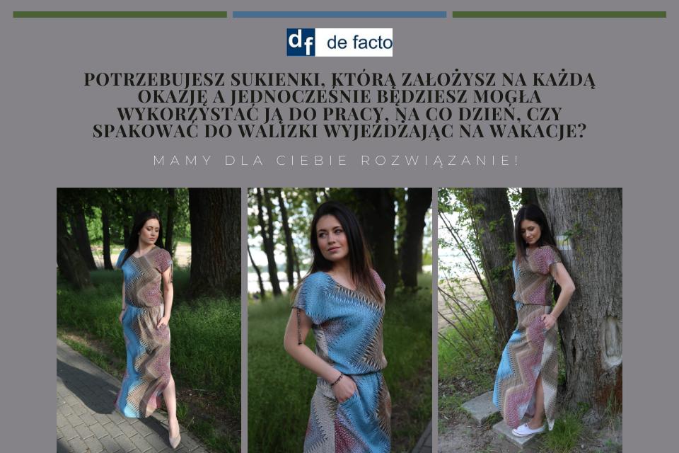 Sukienka De Facto w kilku odsłonach
