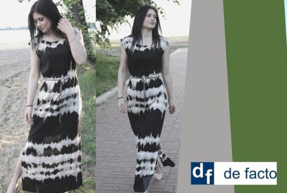 W De Facto sukienki z przewiewnych, naturalnych tkanin