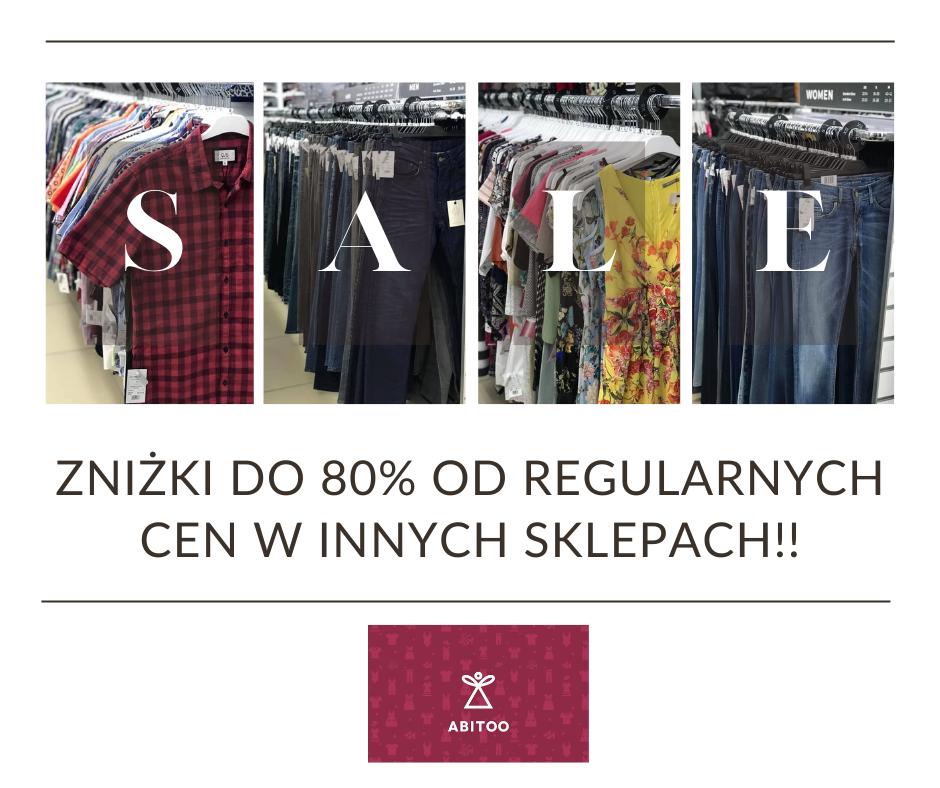 Zniżki do 80% od regularnych cen w innych sklepach!