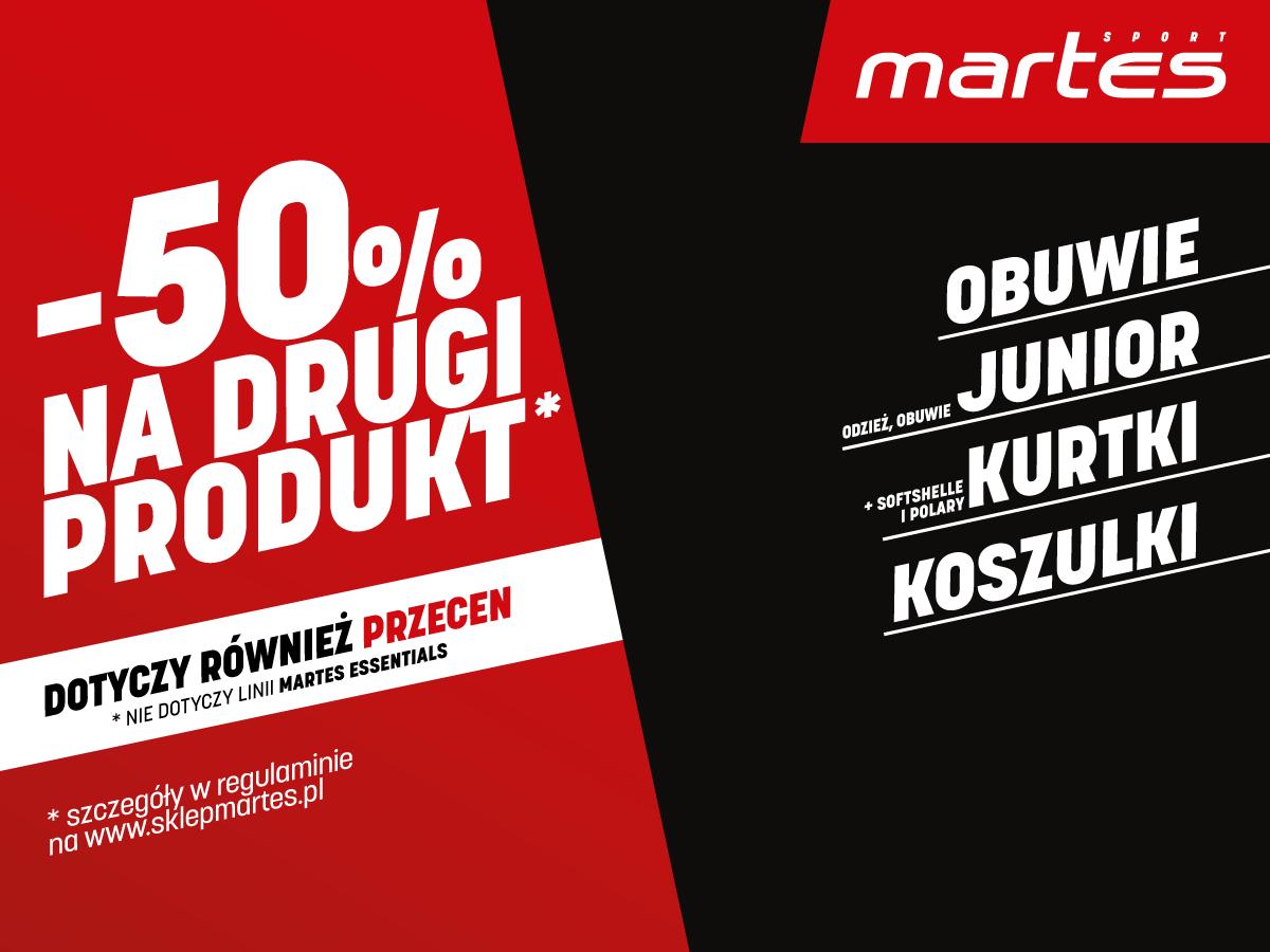 Zyskaj rabat -50% na drugi produkt!