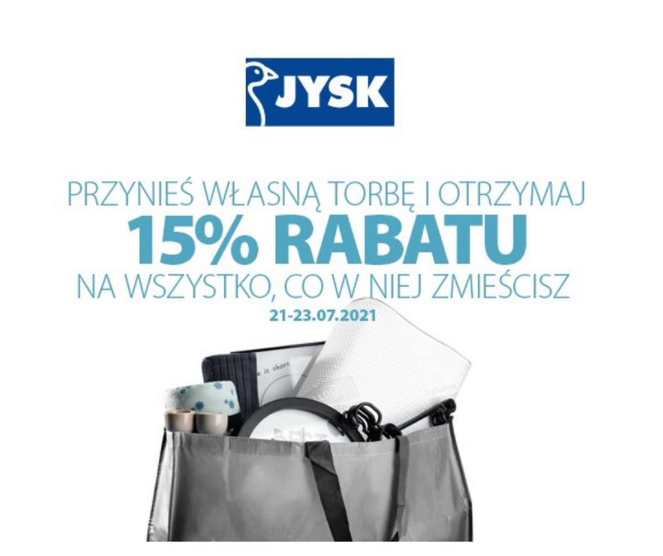 Własna torba = tańsze zakupy w Jysk!