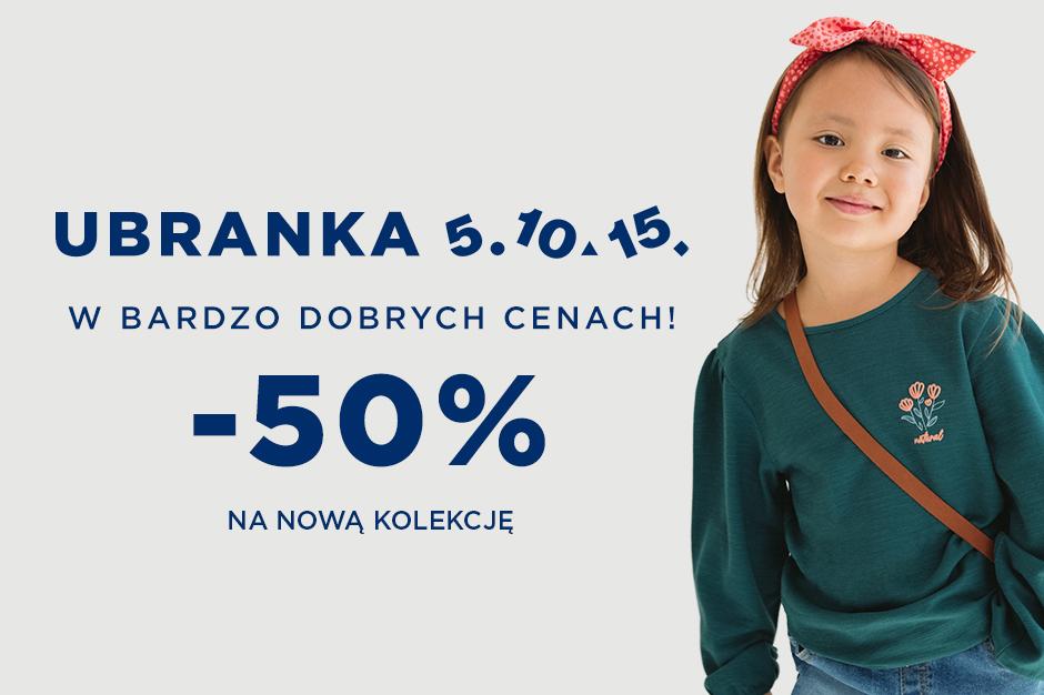 NOWOŚCI Z RABATEM -50% w 5.10.15.